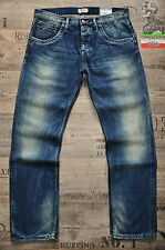 PEPE JEANS TOOTING 34 36 38 L32 L34 STRAIGHT NEW MENS JEANS BLUE STREAKING FADED