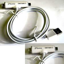 Double Side 2 in 1 Micro USB Charging Data Cable For iphone & Samsung Android