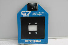Beseler 6737 67 Negative Carrier for 35mm or 126 Film 24x36mm Opening - NEW C370