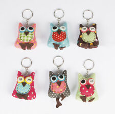 Owlie the Owl keyring Sass & Belle spotty colours vintage/retro BIRTHDAY GIFT