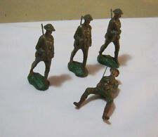 Vintage Composite Toy Military Soldiers Made in Japan  T*