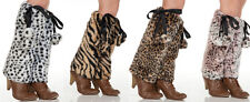 Faux Fur Pom Pom Leg Warmer, Designer Animal Plain Fur Boot Covers