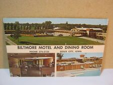 Biltmore Motel and Dining Room Sioux City Iowa 1968 Vintage Postcard  T*
