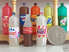 ONE DOLLS HOUSE MINIATURE DRINKS / POP BOTTLE Choice of Flavours Handmade 1:12th