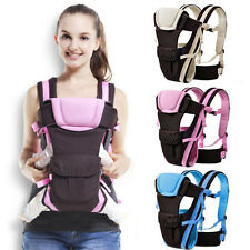 3 Colores Transpirable Mochila Portabebes Ajustable Recien Nacido Baby Carrier