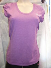 PUMA LADIES PURPLE STRIPE T-SHIRT VARIOUS SIZES BNWT