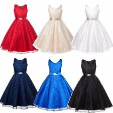 Flower Girl Floral Formal Wedding Bridesmaid Party Pageant Prom Princess Dresses