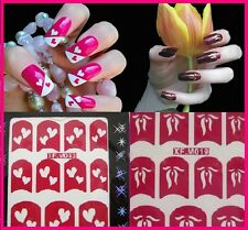 Nail Art Stencils Stickers DIY Nail Tip Guides French Manicure Various Designs