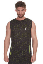 Mens / Adults Redtag Active Sleeveless Printed Running Vest Top / T-shirt