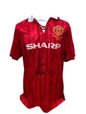 ERIC CANTONA SIGNED 1994 HOME MANCHESTER UNITED FOOTBALL SHIRT SEE PROOF COA