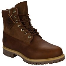 Mens Timberland 6 Inch Premium Boots In Wheat- Leather Lace Up Boots-Waterproof