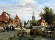 Poster / Leinwandbild A view of the Staal Everspijp and the Grote Kerk in ...
