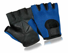 Mesh Back Leather Padded Weight Lifting Glove Gym Body Building Cycling Gloves