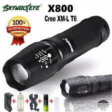 Zoomable 5000LM Cree XM-L T6 LED G700 X800 Flashlight Torch Lamp Battery&Charger