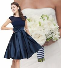 BNWT Navy Blue 50's Vintage Inspired Prom Evening Bridesmaid Dress UK 6 - 18