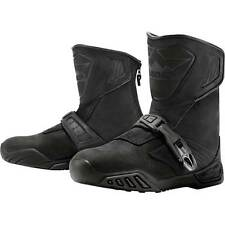 Icon Raiden Treadwell Waterproof Motorcycle Motorbike Boots Black | All Sizes