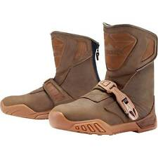 Icon Raiden Treadwell Waterproof Motorcycle Motorbike Boots Brown | All Sizes