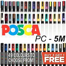 POSCA Paint Marker Pens PC-5M by Uni-Ball - All Colours  *BUY 4, PAY FOR 3!*