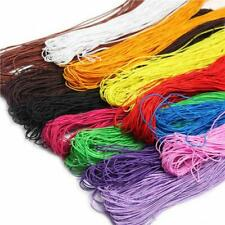 1mm NYLON CORD BRAIDED RATTAIL 10 MTRS  20 COLOUR CHOICE