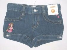 Gymboree Floral Mermaid 18-24 2T 3T Jean Shorts New Blue Denim Girls 2T Twins