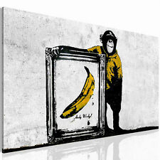PICTURE PICTURE CANVAS 3022137_40 BANKSY ART PRINT GRAFFITI MURAL WHITE 1tlg