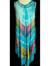 ROBE GRANDE TAILLE TURQUOISE  R-31