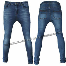 Originale Riversoul Denim Jeans Uomo Slim Fit Vita Bassa 42 44 46 48 50 52