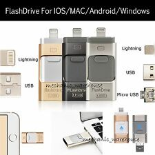 For iPhone i-Flash Drive USB 16 32 64 128GB OTG Device Memory Stick iOS Android