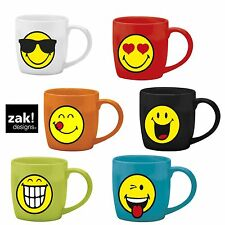 Zak design Kaffeetasse Smiley Emoticon Tasse 0,2 L Porzellan