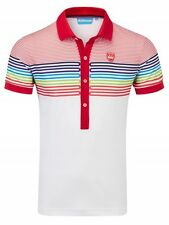 Bunker Mentality Racing Stripe Sport Golf Polo Shirt  Reduced to Clear RRP £58