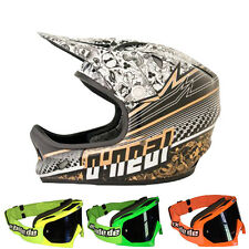 Oneal Downhill Freeride Helm Skad - Stroker + MX-2-Bude Brille
