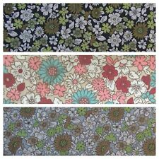Vintage Style Flowers Fabric 100% Cotton Clearance Remnants.