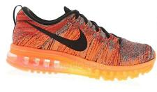 Nike Flyknit Max Orange University Red Black Hyper Crimson Mens Running Trainers