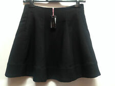 Amy Gee Black A-Line Heavy Mini Skirt   Ret £45    UK 12 & UK 14   BNWT