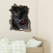 Halloween Werewolf Monster wall Kids Boy Bedroom Vinyl Decal Wall Sticker Gift
