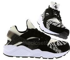 Nike Air Huarache Oreo Black White Knit Woven Toe Box Mens Trainer 705008 011