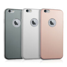 kwmobile HARDCASE ALUMINIUM SILIKON CASE FÜR APPLE IPHONE 6 6S BACKCOVER TPU