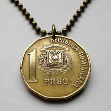 Republica Dominica peso pendant necklace Juan Pablo Duarte Santo Domingo n001004