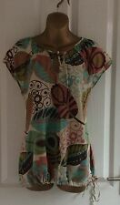 LOVELY PLUS SIZE 16 SUMMER CASUAL BLOUSE TOP LADIES CLOTHING*