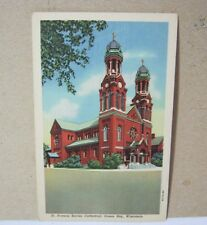 St. Francis Xavier Cathedral Green Bay Wi Vintage Postcard  T*