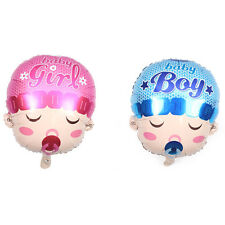 1x Foil Balloon Baby Boy Infant Girl Newborn Shower Cute Blue Babies Pink IZT