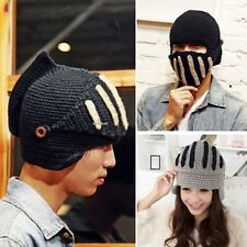 Men Women Windproof Knit Beard Beanie Face Mask Hats Respirator Warmer Ski Caps