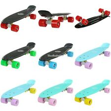 "ANCHEER 22"" Mini Retro Skate Skateboard 4 Roues Longboard Complet Tableau"