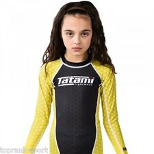 TATAMI KIDS IBJJF RANK YELLOW RASH GUARD : RASHGUARD MMA GRAPPLING  JIU-JITSU