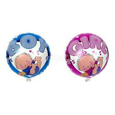 Round Girl Boy Print Foil Balloon for Baby Shower Crafts Party Supplies Globos