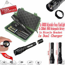 Tactical 8000LM G700 X800 Zoom XML T6 LED Flashlight 18650 Battery Taschenlampe
