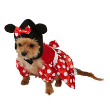 Pet Dog Minnie Mouse Costume  Rubies Disney Character Fancy Dress Outfit XS-M