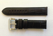 PANERAI REPLACEMENT CALF WATCH STRAP - BLACK ALLIGATOR GRAIN 22MM & 24MM