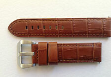 PANERAI REPLACEMENT CALF WATCH STRAP - LIGHT BROWN ALLIGATOR GRAIN 22MM & 24MM