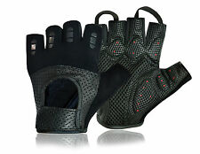 Half Finger Cycling Gloves Perforated Leather Cycle Bicycle Gym Fitness Glove